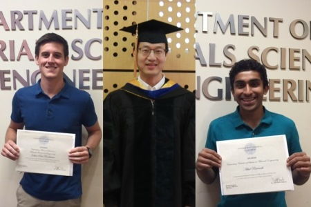 2016 Outstanding Materials Science Ph.D , M.S. and B.S.  Students